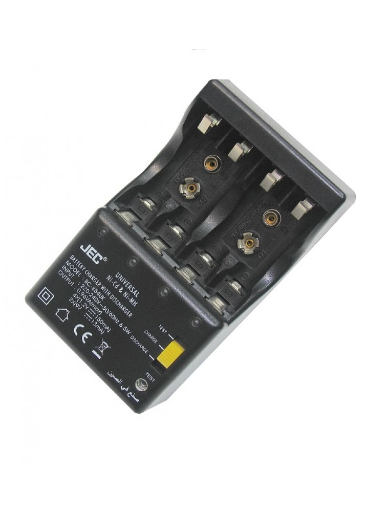 Universal battery charger with discharge and battery tester BC-854
