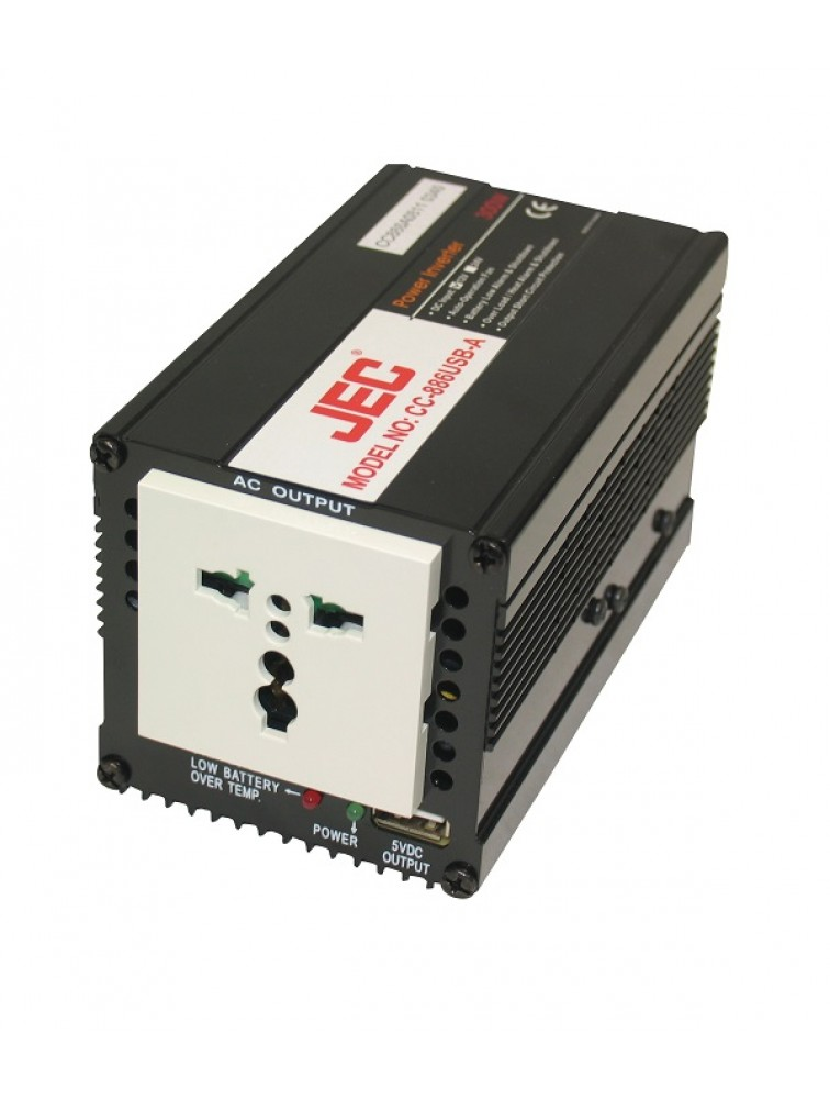 300W DC TO AC Power Inverter with USB(5V500mA) charging socket  CC-886USB-A