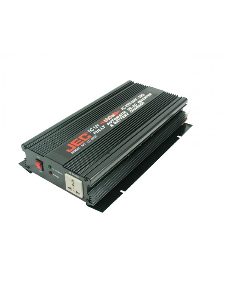 Fully automatic DC to AC to DC inverter with battery charger CC-893C
