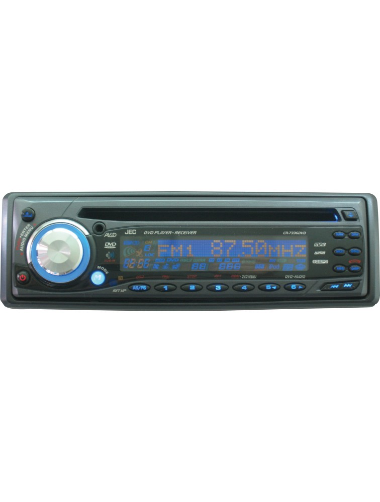 Car DVD/VCD/CD/MP3 Player [CR-7336DVD] with Full Detachable Front Panel