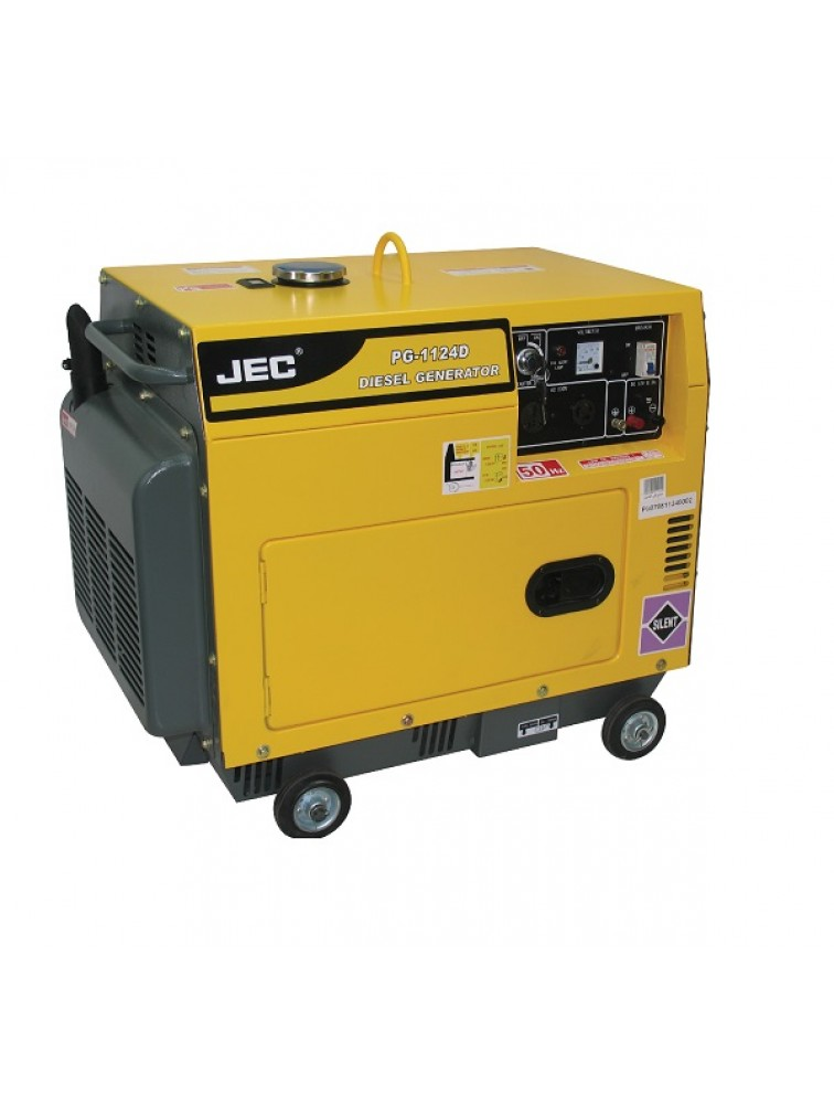 3 KVA Silent type) Diesel generator including battery/ Electric start Generator PG1124D