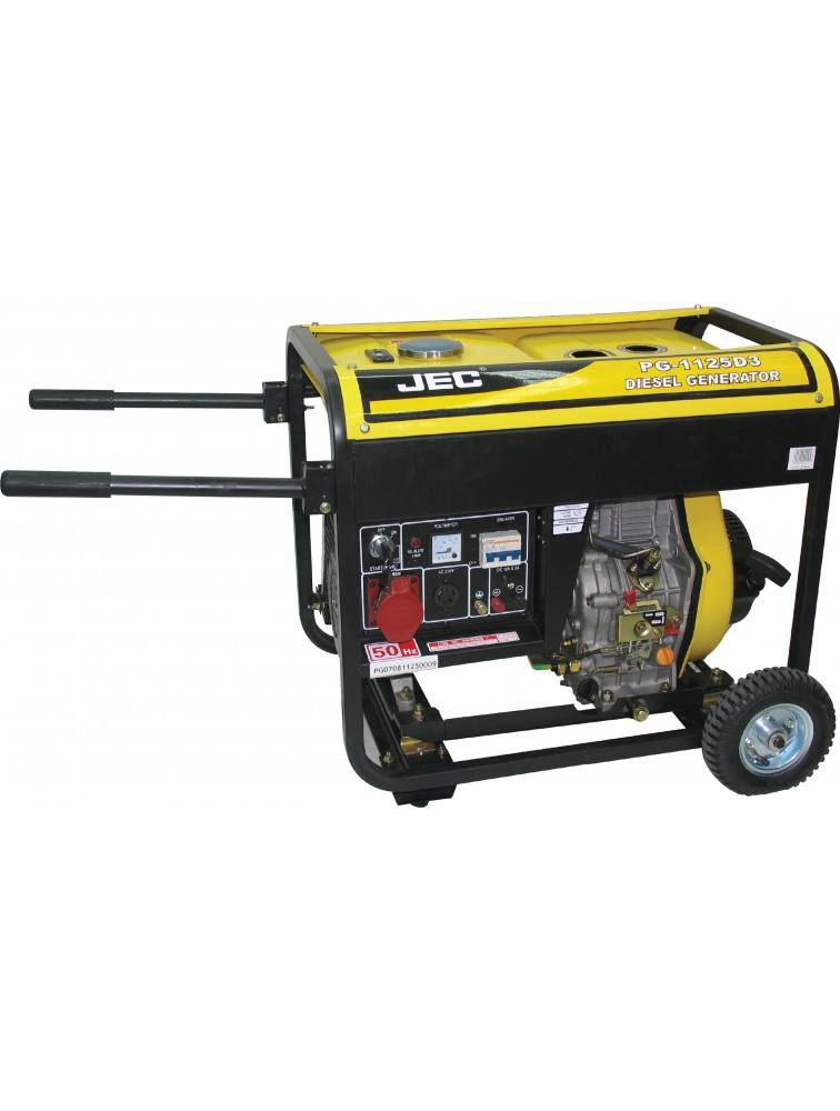 Three Phase (5 KVA open type) Diesel generator including battery/ Electric & recoil start Generator   PG1125D3