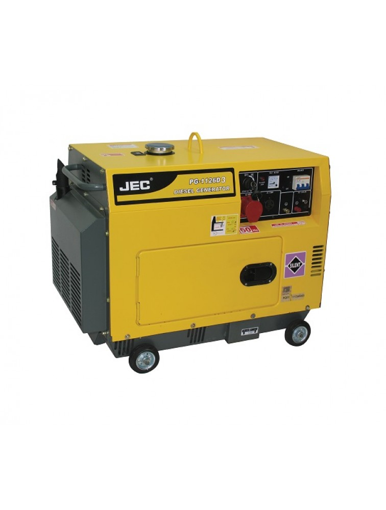 Three Phase (5 KVA silent type) Diesel generator including battery/ Electric start Generator PG1126D3