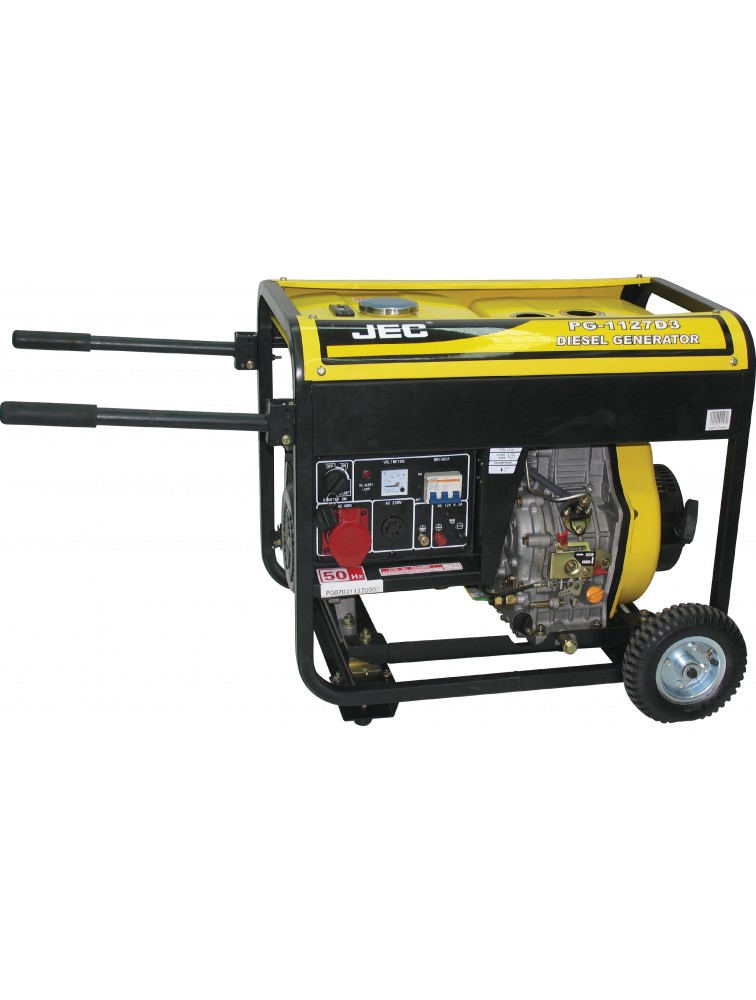 Three Phase (7 KVA open type) Diesel generator including battery/ Electric & recoil start Generator PG1127D3